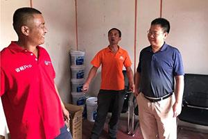 与终端对话,龙蟠集团董事长石俊峰赴山东进行可兰素市场调研