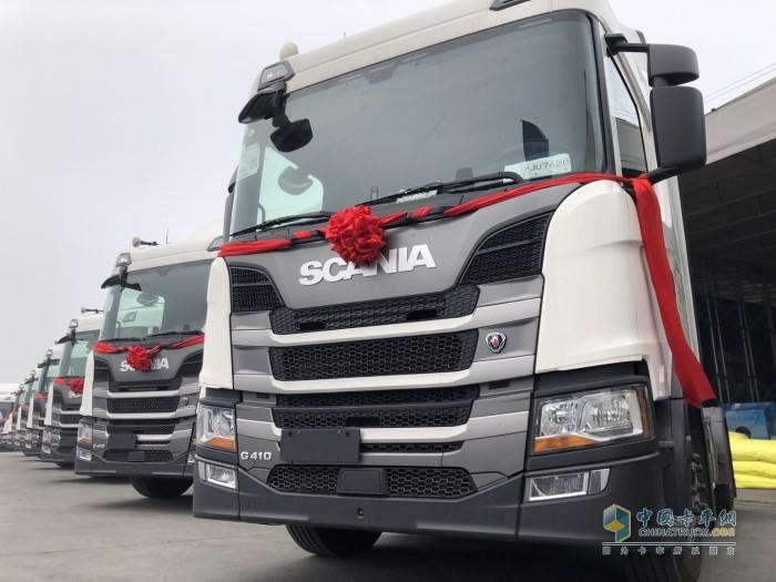 吴总新采购的50台斯堪尼亚G410牵引车