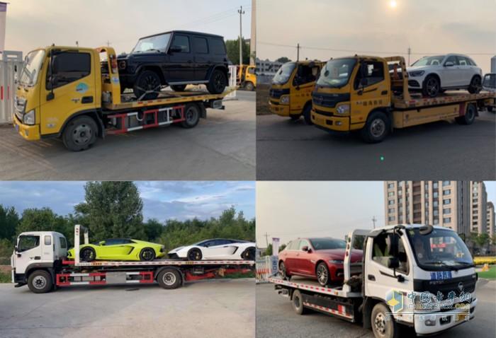 欧马可清障车车队助力豪华品牌展车运输