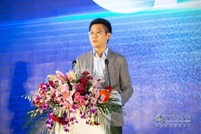 中物联危化品物流分会秘书长、中国物流信息中心副主任刘宇航致辞