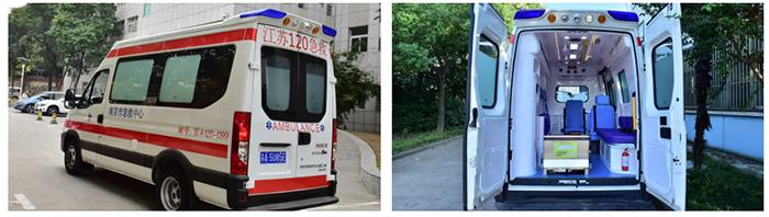 南京依维柯救护车外观和内部