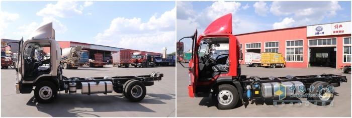 两款车型的宽轮距、车架方面均有得天独厚的优势