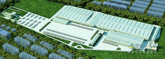 福田戴姆勒汽车新工厂规划图