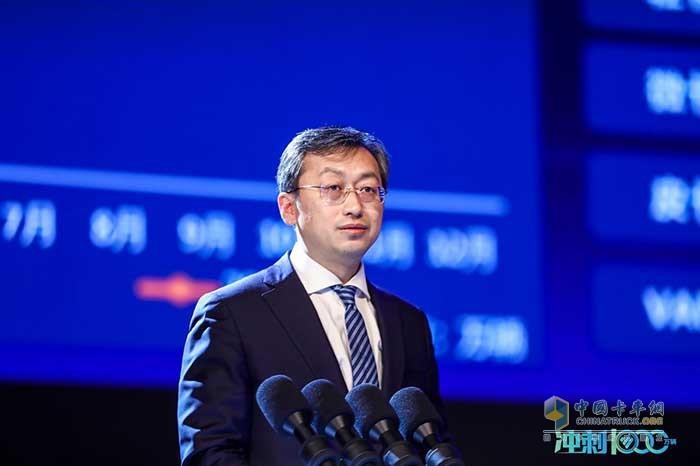 福田汽车党委书记、总经理巩月琼作题为《携手共赢 开启X新世代》的战略主题报告