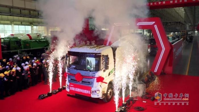 三一全球首台氢燃料电池搅拌车震撼亮相