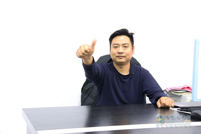 顺发渣土运输车队队长陈明