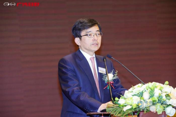 广汽日野总经理保田俊朗发言致辞