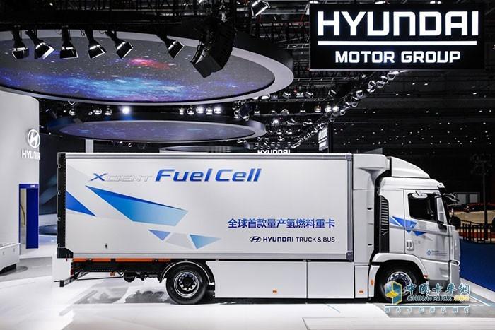 """中国国际进口博览会展示的氢燃料电动重卡"""" XCIENT Fuel Cell"""""""