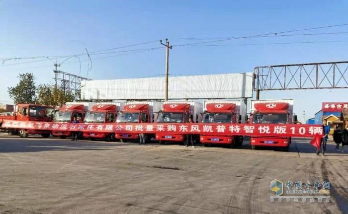 飞象物流在东风轻型车石家庄惠和4S店提了40台东风凯普特