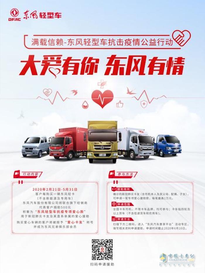 东风轻型车 载货车 抗疫捐款