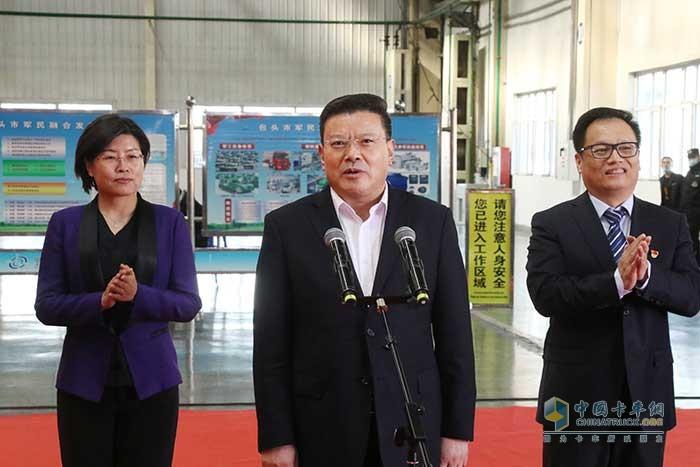 内蒙古自治区党委常委、包头市委书记孟凡利宣布发车