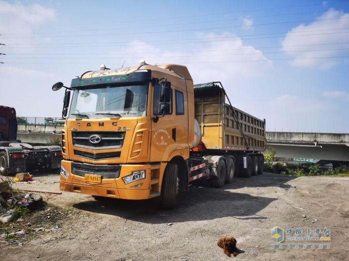 汉马砂石料运输车