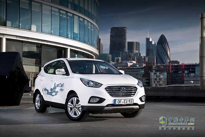 全球首款量产氢燃料电池车现代ix35 FCEV