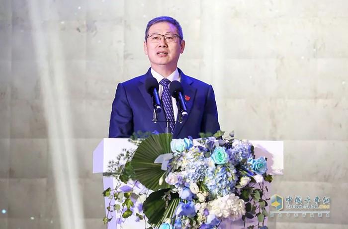 中国一汽总经理助理、一汽解放董事长党委书记胡汉杰发表致辞