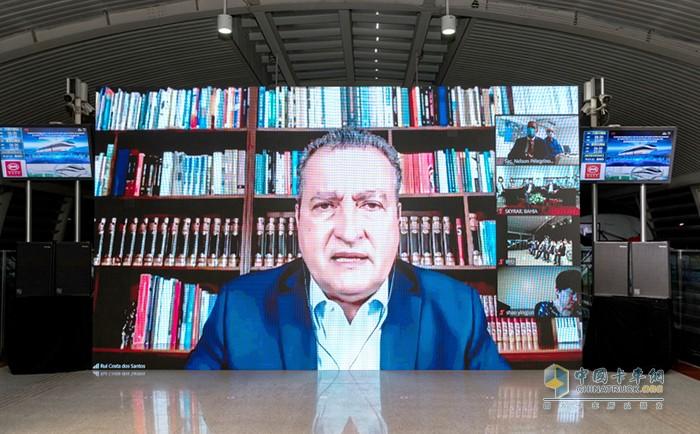 巴伊亚州州长鲁伊·科斯塔发表视频致辞