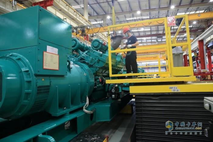 康明斯中国 发电机组组装厂 零部件