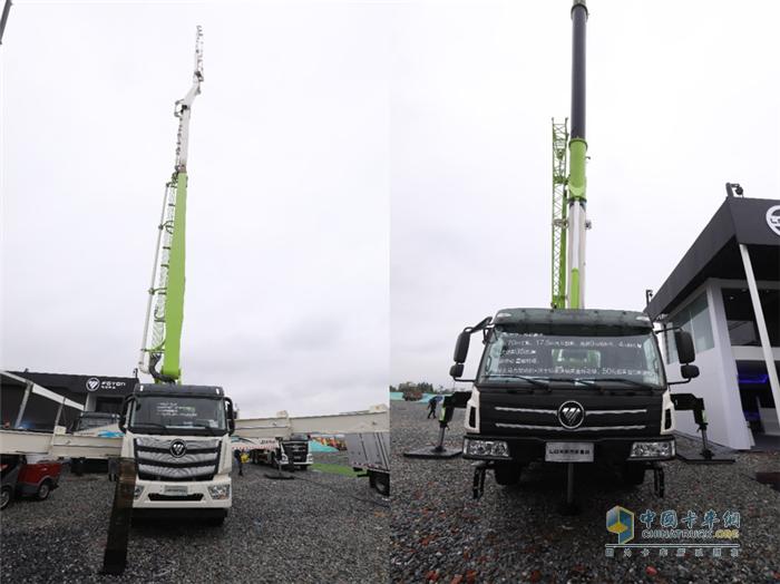 雷萨L10-62米8节臂混凝土泵车新品及雷萨FTC90x7起重机