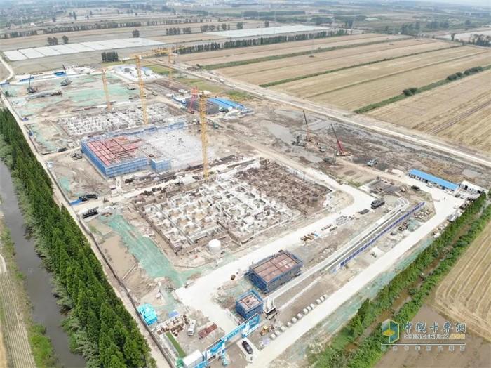 阿里巴巴华东最大云计算数据中心建设工地