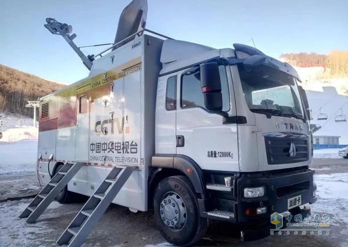 中国重汽汕德卡转播车