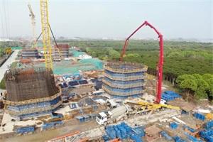 66小时连续浇筑13000方混凝土!三一助力常泰长江大桥建设