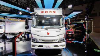 庆铃EV100纯电动冷藏车亮相2021重庆智博会
