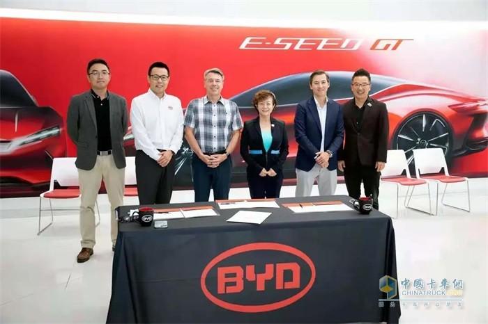 比亚迪和Levo共同宣布将在未来五年联合部署多达5000辆比亚迪电动车