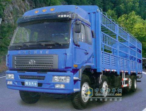 精功 远力 8×2 载货车 (机械提升) ZJZ5243CCYDPG7AZ3