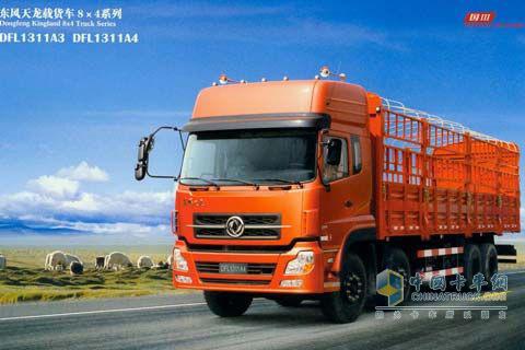 东风商用车 天龙重卡 340马力 8×4 仓栅载货车 DFL5311CCQAX4A