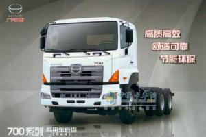 广汽日野 700系列 6×4 专用车底盘 YC1250FS2PK