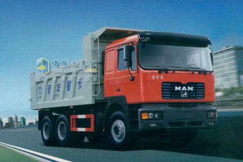 青年曼 290马力 6X4 自卸车 JNP3250FD2