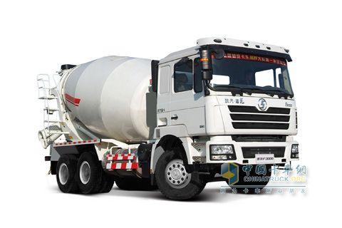 陕汽 德龙重卡 350马力 6×4 LNG水泥搅拌车 SX5256GJBDR384TL