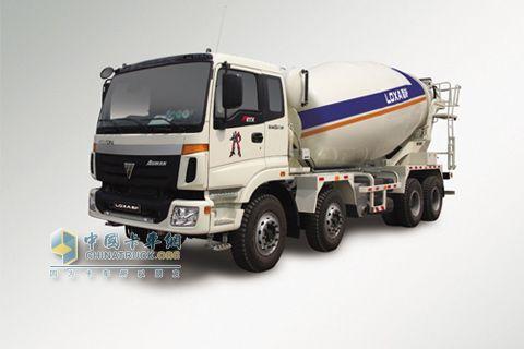 福田戴姆勒 CTX重卡 8×4 9系15方混凝土搅拌运输车