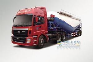 福田戴姆勒 欧曼ETX 375马力 8×4 9系粉粒物料运输车