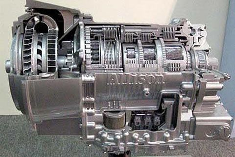 拖拉机变速箱结构图 内部