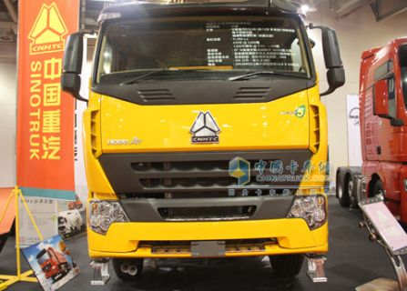 中国重汽420马力 欧5 HOWO A7 8*4 自卸车