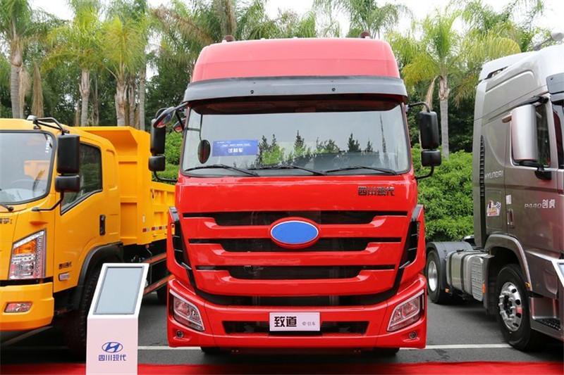 四川现代 致道800W重卡 350马力 4X2国五 牵引车(CNJ4180KPG36V)