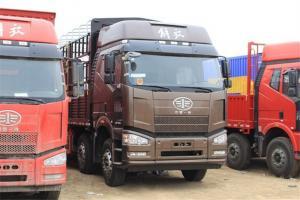 一汽解放 J6P重卡 质惠版 350马力 8X4 国五9.5米仓栅式载货车(CA5310CCYP66K2L7T4E5)