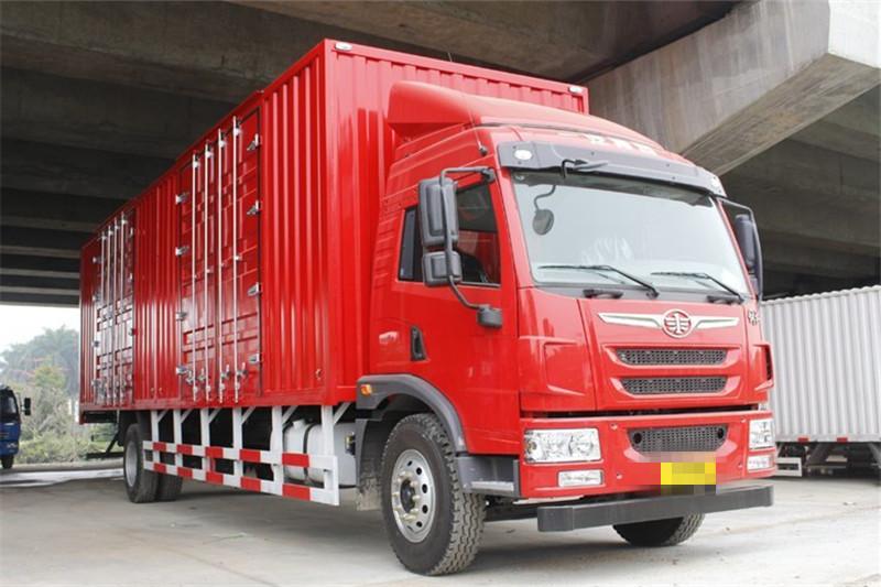 青岛解放 龙V中卡 180马力 4X2 国五6.75米厢式载货车(CA5168XXYPK2L2E5A80-3)