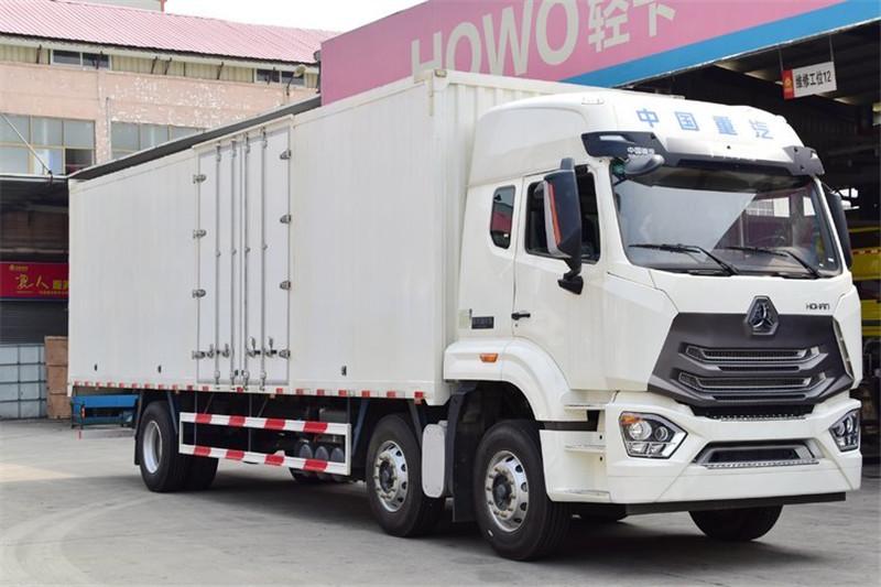 中国重汽 豪瀚N5G重卡 280马力 6X2 国五9.73米厢式载货车(ZZ5255XXYM56C3E1)