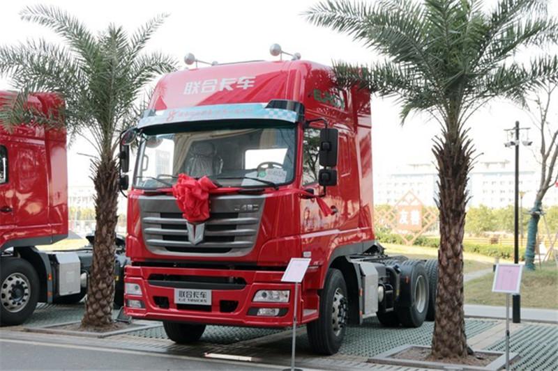 联合卡车 E430重卡 430ag环亚|首页 6X4 国五牵引车(QCC4252D654-2)