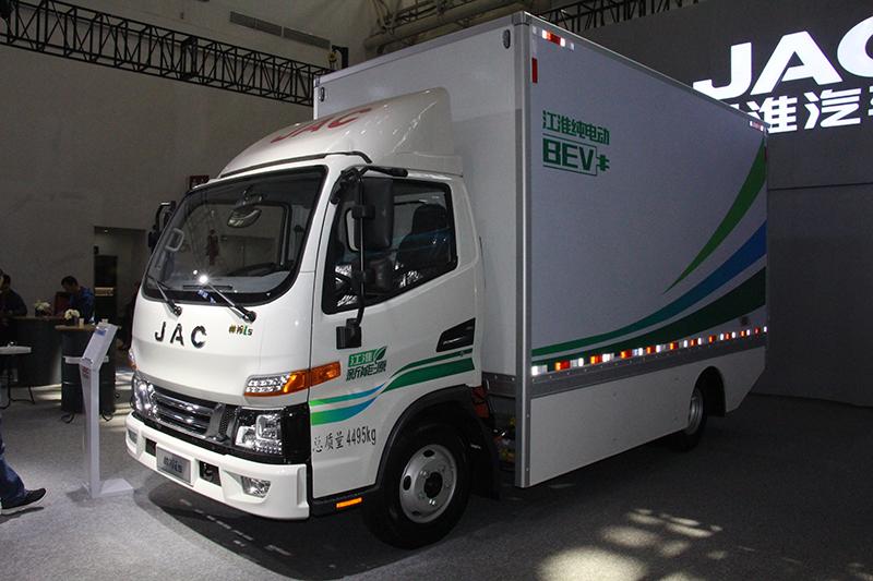 江淮 帅铃i5 120kW 4×2 纯电动 厢式载货车