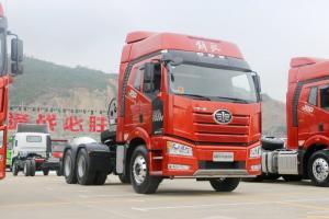 一汽解放 新J6P重卡 430马力 6X4 国五LNG牵引车(CA4250P66T1A2E24M5)