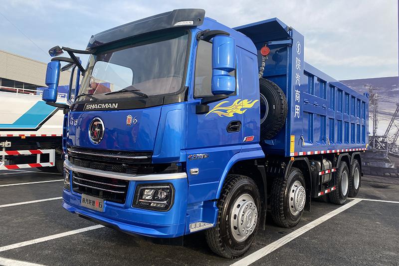 陕汽重卡 轩德E6 320马力 8×4 国六 公路运输自卸车