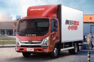 福田奥铃 新捷运小钢炮 156马力 4×2 国五 单排厢式载货车