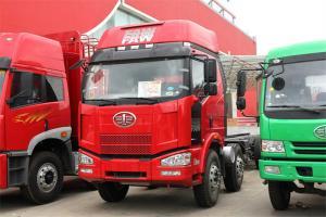 一汽解放 J6P重卡 轻量化版 310马力 8X4 9.4米 国四仓栅式载货车(CA5310CCYP66K2L7T4E4)