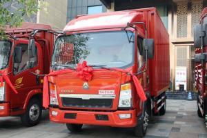 中国重汽HOWO 悍将 95马力 4.2米 4X2 国五单排厢式轻卡(ZZ5047XXYF3315E145)