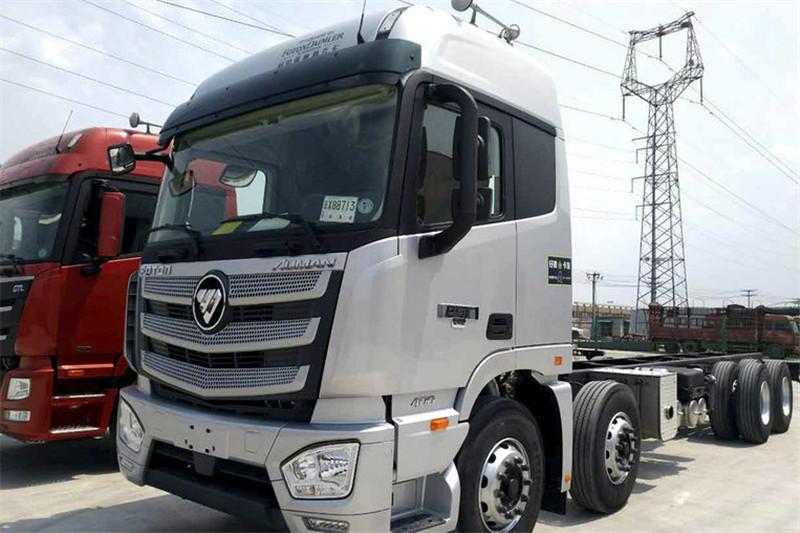 福田 欧曼EST 6系重卡 400马力  国五8X4 9.5米仓栅式载货车(4.111速比)(BJ5319CCY-