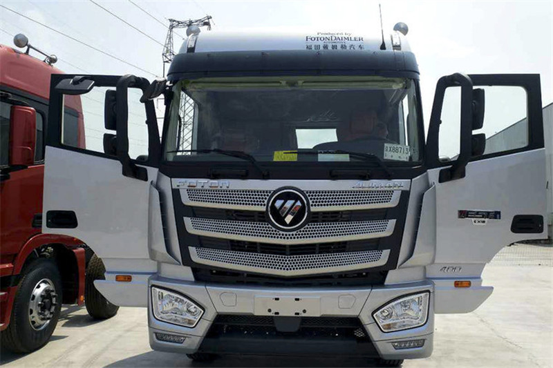 福田 欧曼EST 6系重卡 400马力  国五8X4 9.5米翼开启厢式载货车(4.111速比)