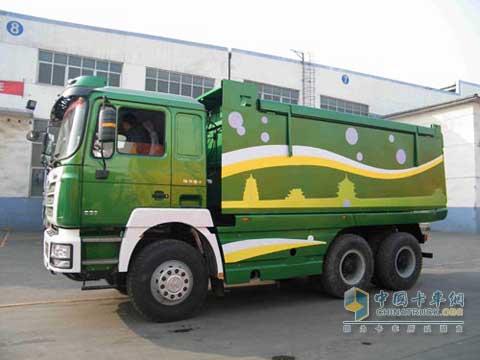 拉土车图片_陕汽通力打造和谐文明的拉土车_中国卡车网