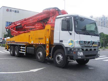 三一重工收到日本30台混凝土泵车订单